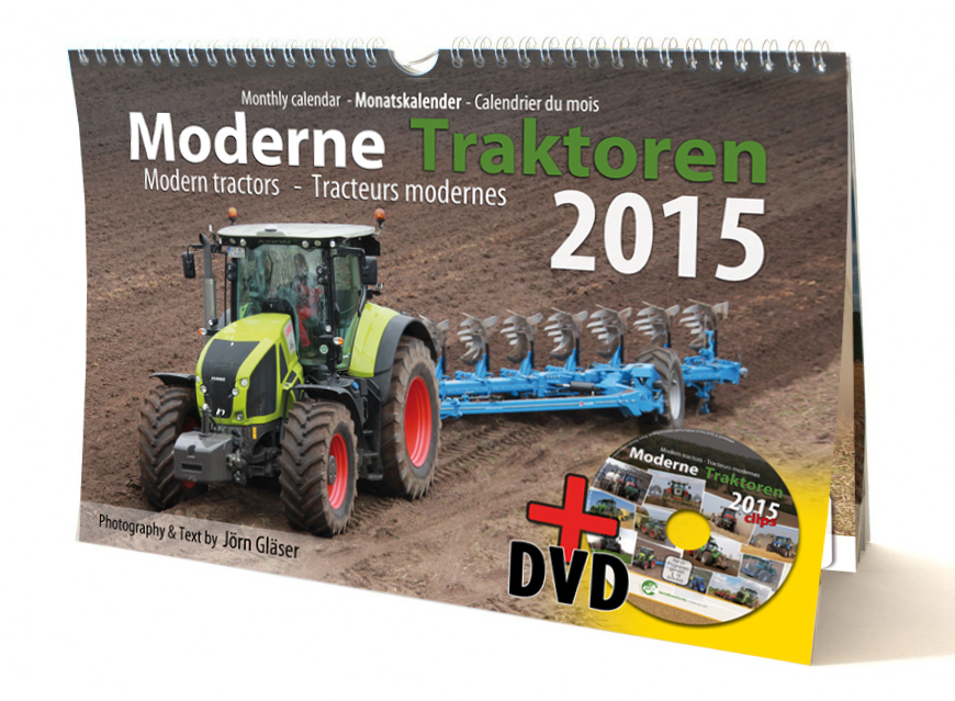 Modern Tractors monthly calendar 2015 + Video-DVD