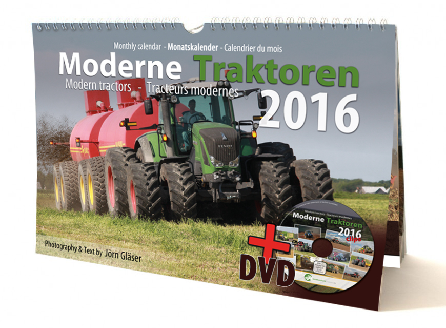 Modern Tractors monthly calendar 2016 + Video-DVD