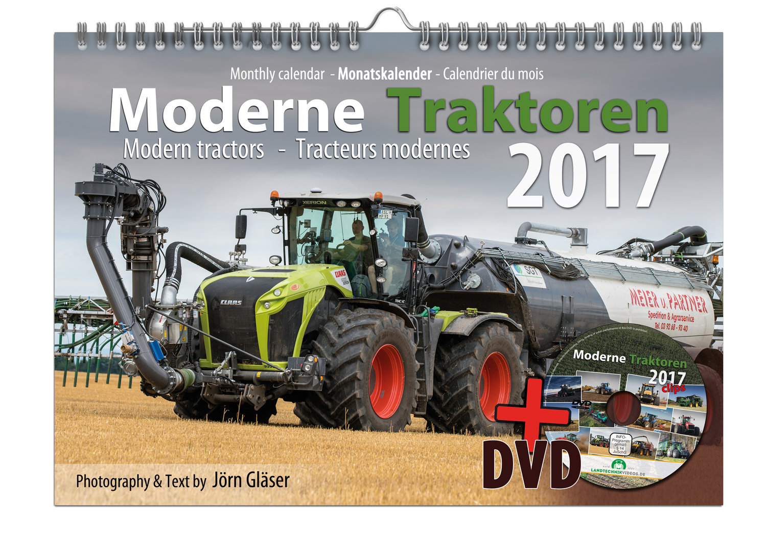 Modern Tractors Monthly Calendar 2017 + Video-DVD
