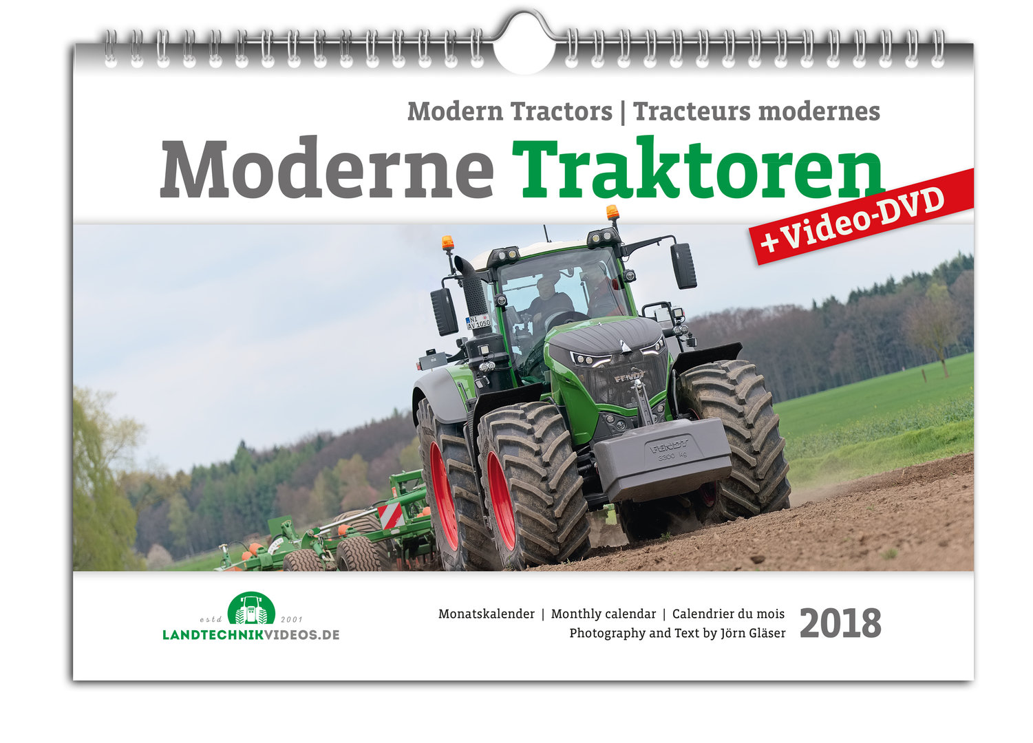 Modern Tractors Monthly Calendar 2018 + Video-DVD