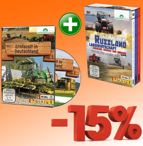 Package: Harvest Time in Germany + Adventure Russia (4xDVD)