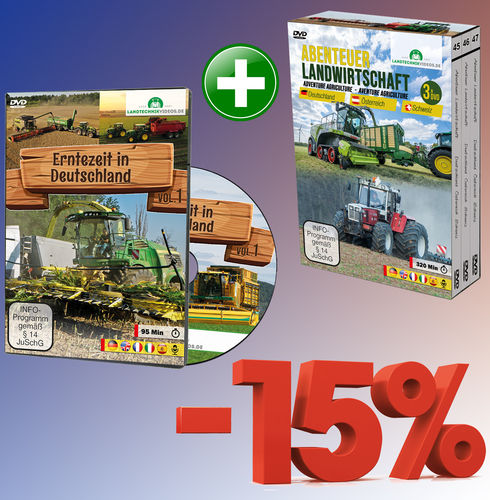 Package: Harvest Time in Germany + Adventure Agriculture Box (4xDVD)