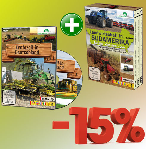 Package: Harvest time in Germany + Agriculture in South America (4x DVD)